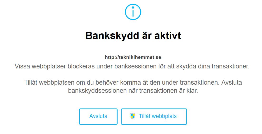 Bankskydd